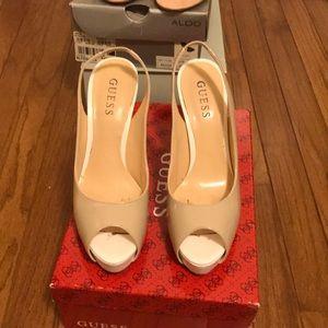 Guess platform heels  size 7